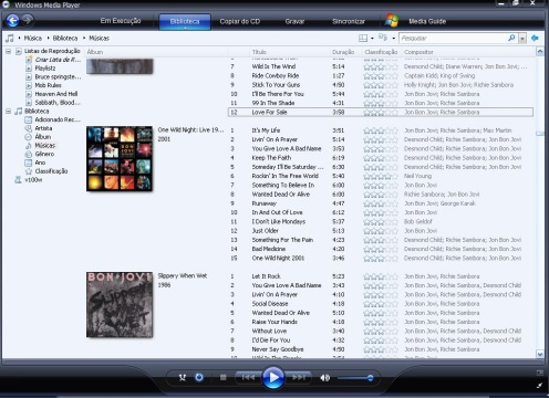 Windows Media Player e sua biblioteca bacana